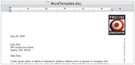 MS Word template tutorial